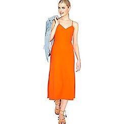Miss Selfridge - Orange side split maxi dress
