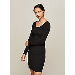 Miss Selfridge - Black scoop neck dress