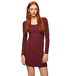 Miss Selfridge - Burgundy long sleeves dress
