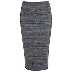 Miss Selfridge - Grey spacedye pencil skirt