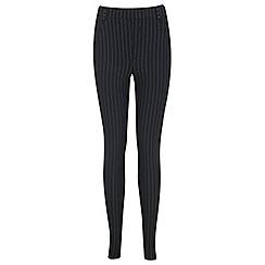 Miss Selfridge - Black pinstripe tregging