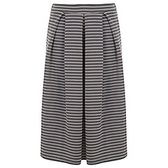 Miss Selfridge - Grey stripe midi skirt