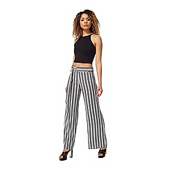 Miss Selfridge - Mono stripe wide leg trouser