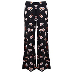 Miss Selfridge - Dark floral wide leg