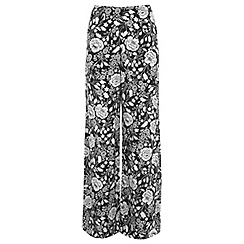 Miss Selfridge - Mono floral wide leg