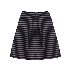 Miss Selfridge - Black pinstripe a-line mini