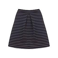 Miss Selfridge - Black pinstripe a-line mini
