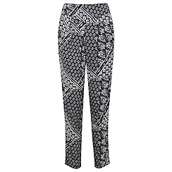 Miss Selfridge - Mono patchwork jogger