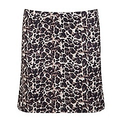 Miss Selfridge - Leopard print ponti mini skirt