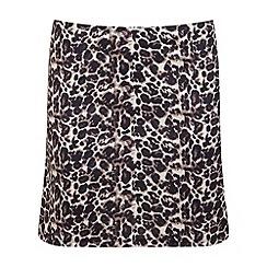 Miss Selfridge - Leopard print ponti mini skirt