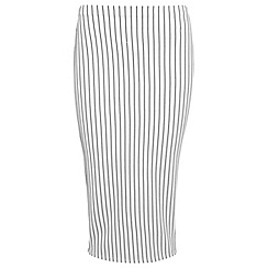 Miss Selfridge - White stripe pencil skirt