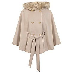 Miss Selfridge - Camel cape coat