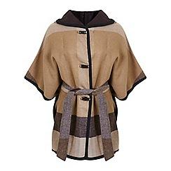 Miss Selfridge - Check blanket cape
