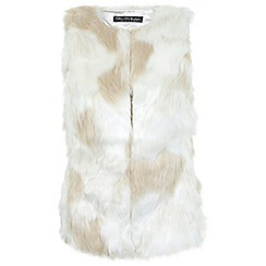 Miss Selfridge - Patchwork faux fur gilet