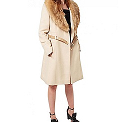 Miss Selfridge - Stone fit and flare coat