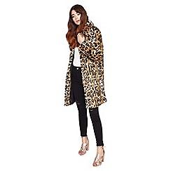 Miss Selfridge - Leopard faux fur coat
