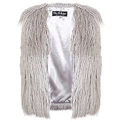 Miss Selfridge - Faux fur mongolian gilet