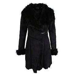 Miss Selfridge - Faux fur shearling coat