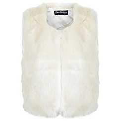 Miss Selfridge - Faux fur cropped gilet