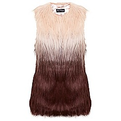 Miss Selfridge - Pink dip dye gilet