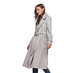 Miss Selfridge - Grey wrap coat