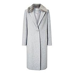Miss Selfridge - Fur trim crombie coat