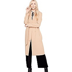 Miss Selfridge - Camel belted midi coat