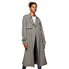 Miss Selfridge - Oversized gingham trench coat