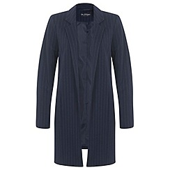 Miss Selfridge - Navy pinstripe duster coat