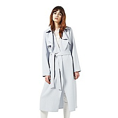 Miss Selfridge - Blue fluid maxi trench