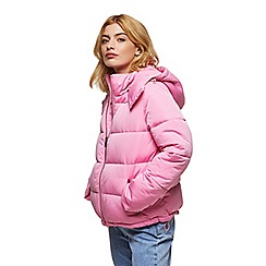 Miss Selfridge - Oversized hooded puffer pink