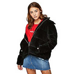 Miss Selfridge - Velvet hood puffer