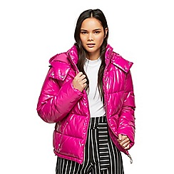 Miss Selfridge - Pink wetlook over puffer