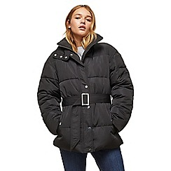 Miss Selfridge - Belted oversized puffer