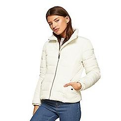 Miss Selfridge - White puffer coat