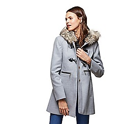 Miss Selfridge - Wool duffle coat grey