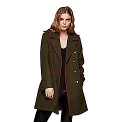 Miss Selfridge - Khaki military coat