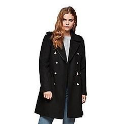 Miss Selfridge - Black military coat