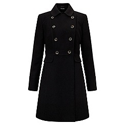 Miss Selfridge - Black double breasted coat