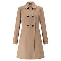 Miss Selfridge - Camel double breasted coat