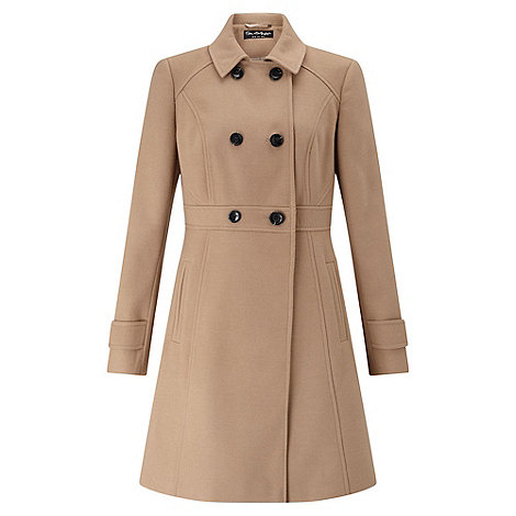 Miss Selfridge - Camel double breasted coat