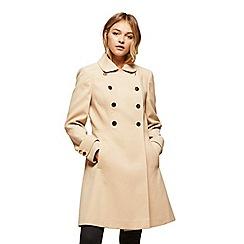 Miss Selfridge - Camel double button wool coat