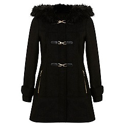 Miss Selfridge - Black duffle coat
