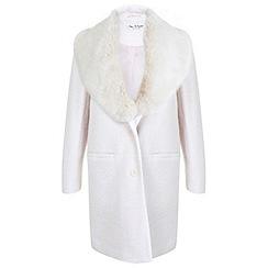 Miss Selfridge - Faux fur collar coat
