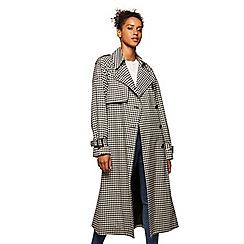 Miss Selfridge - Check statement midi coat