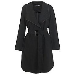 Miss Selfridge - Buckle detail wrap coat
