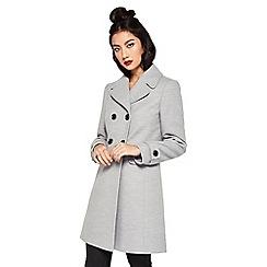 Miss Selfridge - Grey revere collar coat