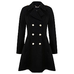 Miss Selfridge - Black military coat