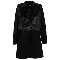 Miss Selfridge - 2 in 1 faux fur gilet coat