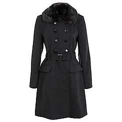 Miss Selfridge - Belted military coat